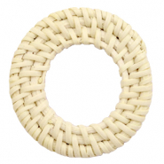Geweven rotan hanger rond 45-50mm Naturel beige
