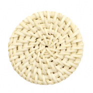 Geweven rotan hanger rond 40mm Naturel beige