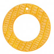 Imi leer hangers rond crocodile Warm yellow