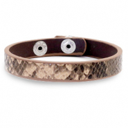 Trendy armbanden snake Beige brown