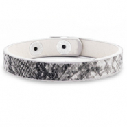 Trendy armbanden snake Anthracite grey