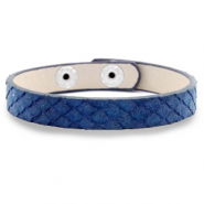 Trendy armbanden snake Dark blue
