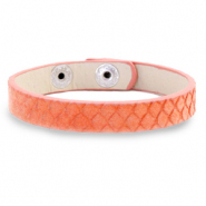 Trendy armbanden snake Living coral red
