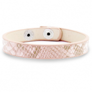 Trendy armbanden snake Light pink