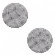 DQ leer cabochons 12mm Concrete grey