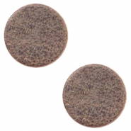 DQ leer cabochons 12mm Toffee brown