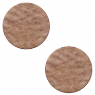 DQ leer cabochons 12mm Sequoia brown