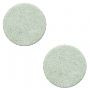 DQ leer cabochons 12mm Meadow green