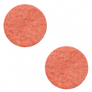 DQ leer cabochons 12mm Living coral red