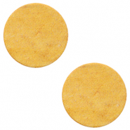 DQ leer cabochons 12mm Mineral yellow