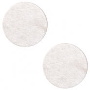 DQ leer cabochons 12mm Sweet corn grey
