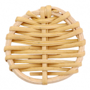 Rotan hanger rond 40mm Natural brown