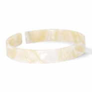 Trendy armbanden resin loose fit Cream beige