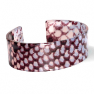 Trendy armbanden resin snake shiny Blue-brown