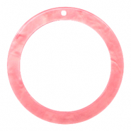 Resin hangers rond 35mm Living coral pink