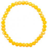 Top facet armbandjes 6x4mm Freesia yellow opal-pearl shine coating