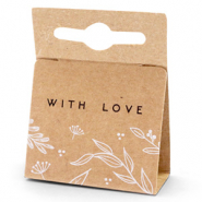 Sieraden kaartjes 'with love' Floral Brown