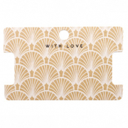 Sieraden kaartjes 'with love' Art Deco Brown