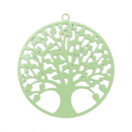 Hangers bohemian tree of life 25mm Meadow green (nikkelvrij)