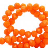 Top Facet kralen 4x3 mm disc Emberglow orange-pearl shine coating