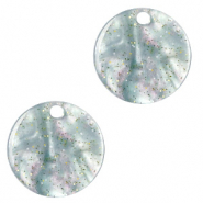 Resin hangers rond 12mm Ash grey-green