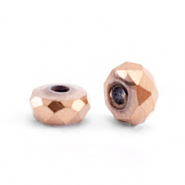 Hematite kralen facet disc 4x2mm Rosegold