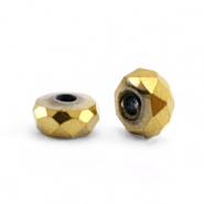 Hematite kralen facet disc 4x2mm Gold