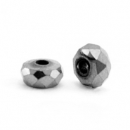 Hematite kralen facet disc 4x2mm Anthracite grey