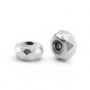 Hematite kralen facet disc 4x2mm Silver grey