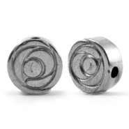 Hematite kralen roosje 8mm Anthracite grey