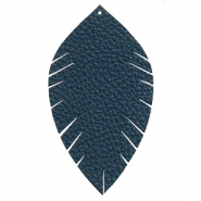 Imi leer hangers leaf large Dark blue