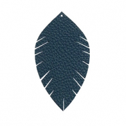 Imi leer hangers leaf small Dark blue