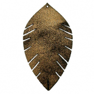 Imi leer hangers leaf large Gold-black
