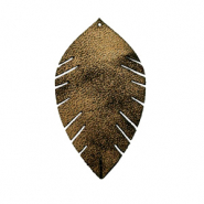 Imi leer hangers leaf small Gold-black