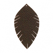 Imi leer hangers leaf medium Dark chocolate brown