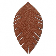 Imi leer hangers leaf large Chocolate brown