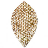 Imi leer hangers leaf large snake Beige-brown