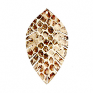 Imi leer hangers leaf small snake Beige-brown