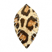 Imi leer hangers leaf medium leopard Beige-brown