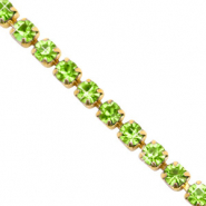 Strass chain Lime green-gold