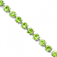 Strass chain Lime green-silver