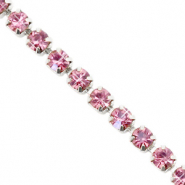 Strass chain Hawthorn rose-silver
