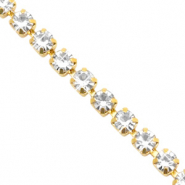 Strass chain Crystal-gold