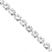 Strass chain Crystal-silver