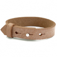 Cuoio armbanden leer 15 mm voor 20 mm cabochon Toasted nut brown