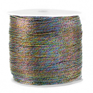Macramé draad metallic 0.5mm Anthracite mix