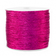 Macramé draad metallic 0.5mm Raspberry rose purple