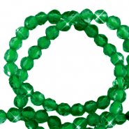 3 mm natuursteen kralen crystal facet geslepen Emerald green