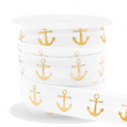 Elastisch lint anchor White-gold