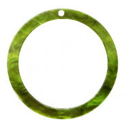 Resin hangers rond 35mm Guacamole green